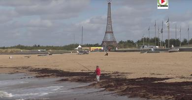 SION-SUR-L'OCEAN: La Tour-Eiffel sur la plage