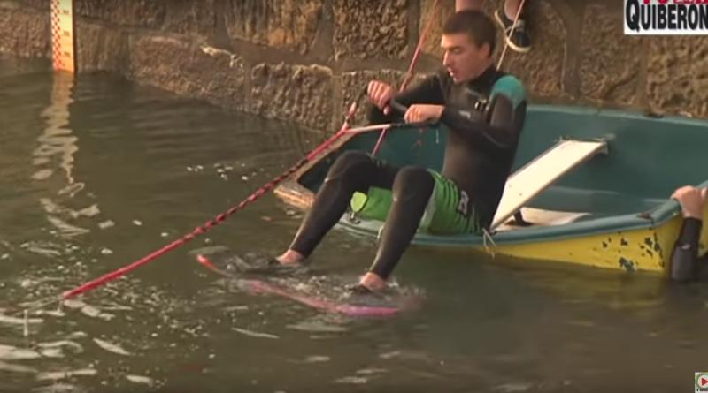 Carnac sauts et chutes en wakeboard
