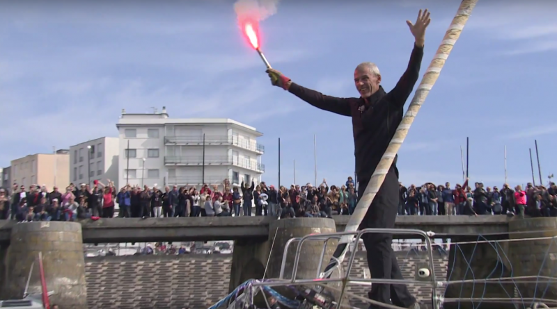 Vendée-Globe 2017: Clap de fin Destremau accoste - Bretagne Télé