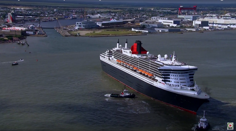 SAINT- NAZAIRE: Retour du Queen-Mary 2