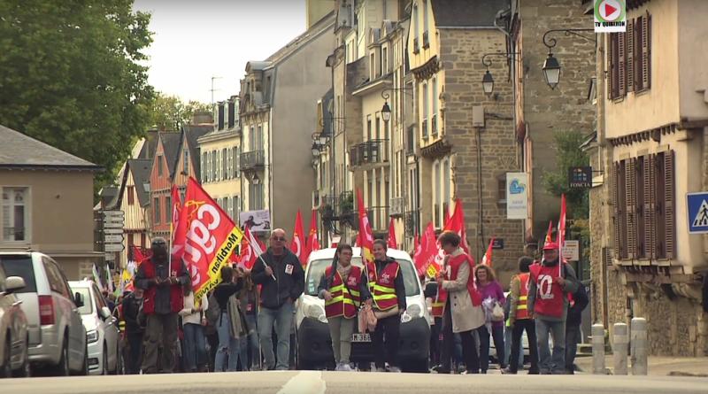 Vannes: La manif des Fonctionnaires - Bretagne Télé