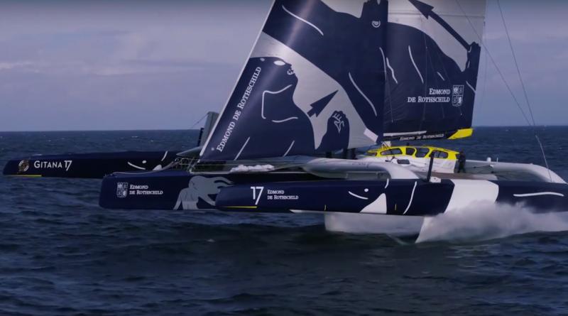 Le Maxi-Trimaran Gitana 17 vole - Le Havre Bretagne Tele
