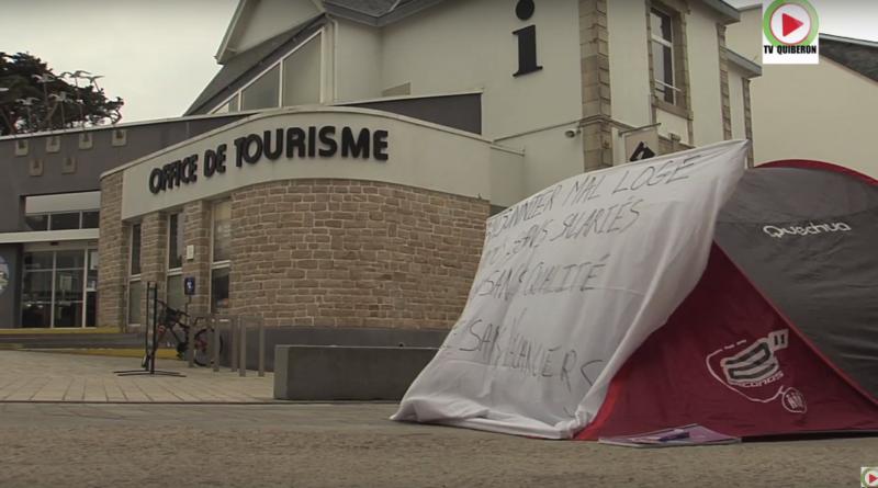 Manif et Colere des Saisonniers - TV Quiberon 24/7
