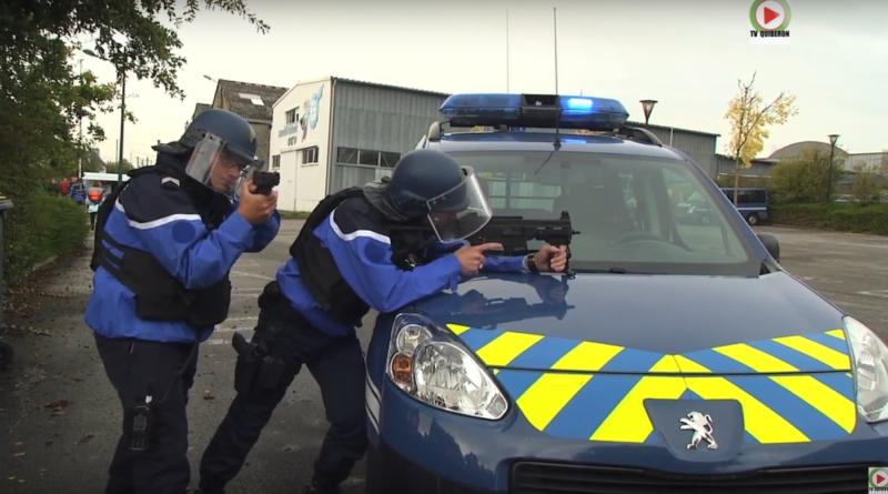 Gendarmerie Exercice Attentat Pontivy - TV Quiberon 24 /7