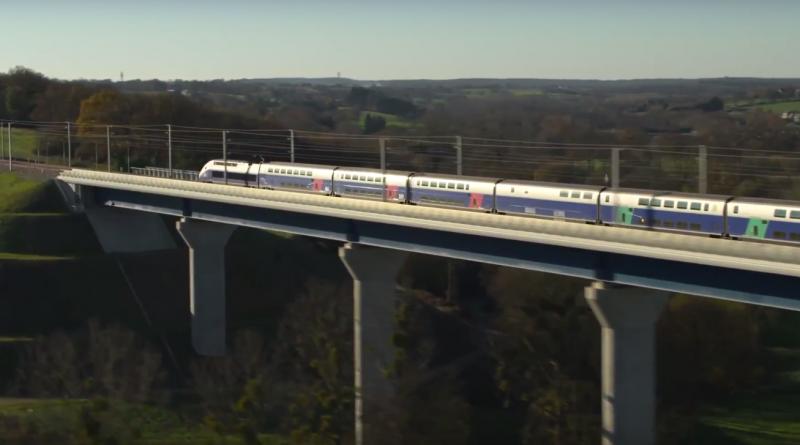 Bretagne Télé: LGV 1er Train d'Essai Le-Mans Rennes