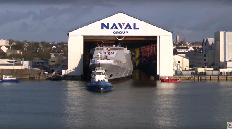 Lorient: Frégate multimissions Normandie - Bretagne Télé